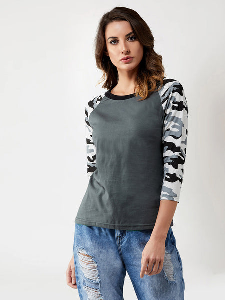 Hey Warrior Raglan Sleeve T-Shirt