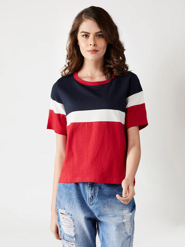 For The Fun Year  Color-Block T-Shirt