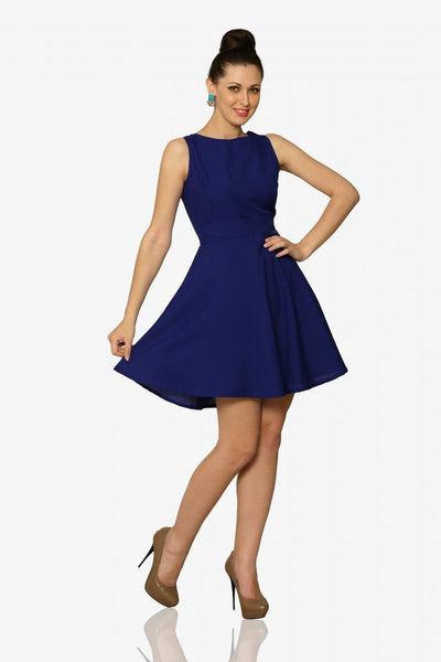 Tie By Night Skater Dress