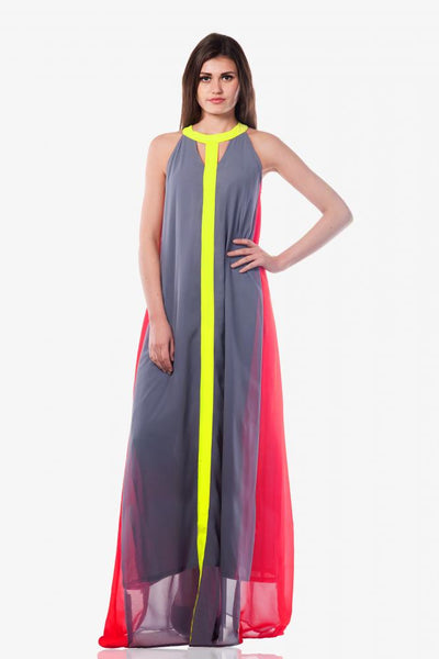 Day At The Beach Colourblock Maxi Dress