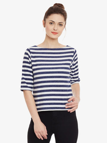 Always On Time Striped Top