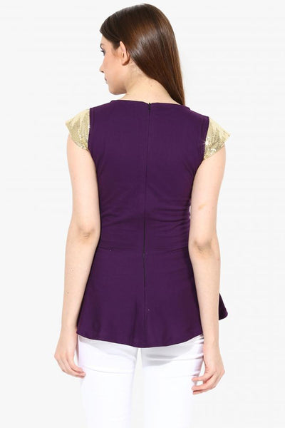 Party In Peplum Top
