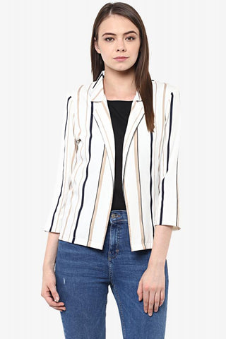Break Of Dawn Striped Jacket