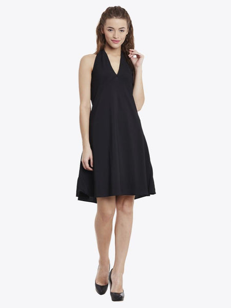 Ignite Plunging Halter Dress