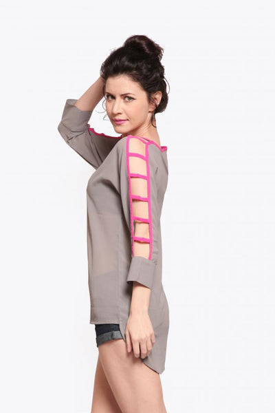 Ladder Sleeve Top