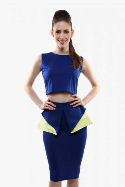 Double Trouble Crop Top And Pencil Skirt Set