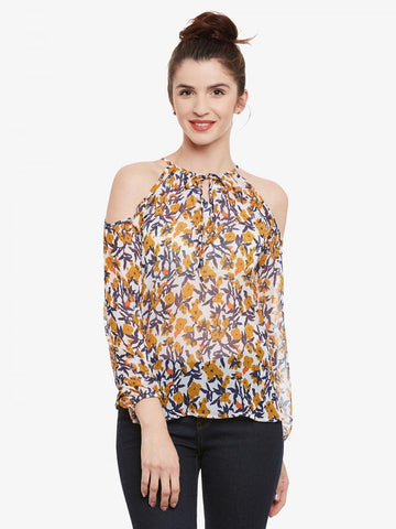 Breeze Along Cold Shoulder Top