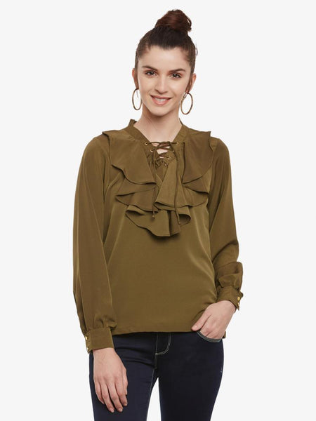 Level The Playing Ruffle Top