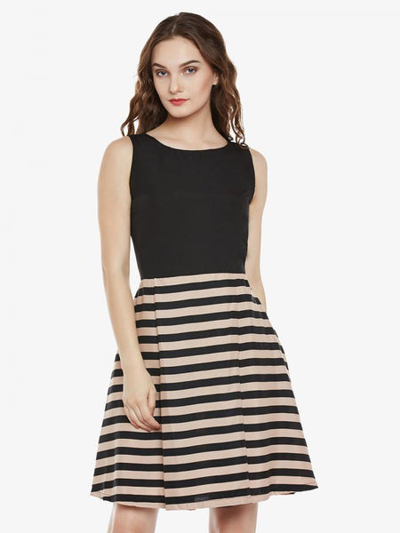 Inside Out Striped Skater Dress