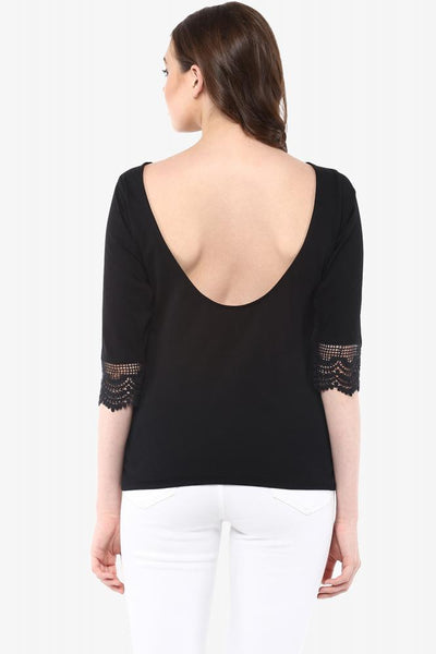Fantasy Lace Deep Back Top