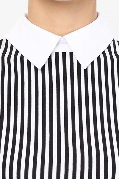 Work Hard Striped Collared Dress