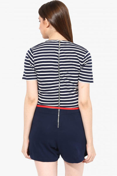 Make No Mistakes Stripe Playsuit