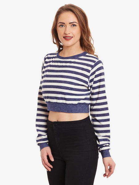 Striped Big Is Beautiful Oversized Top