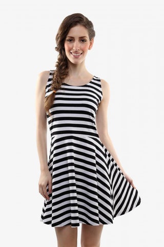 All About The Stripes Skater Dress