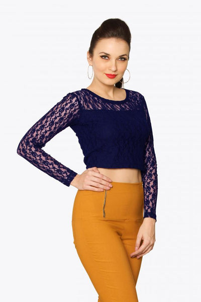 On Crop Of The World Lace Crop Top
