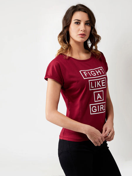 Fight Like A Girl Continuous Sleeve T-Shirt