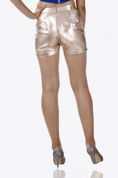 Golden Girl Metallic Shorts