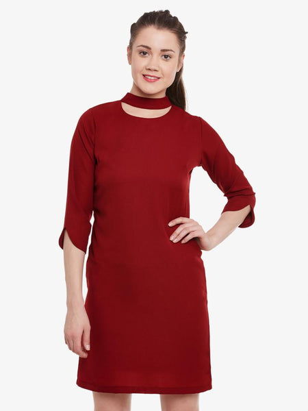 Look Around Choker Shift Dress