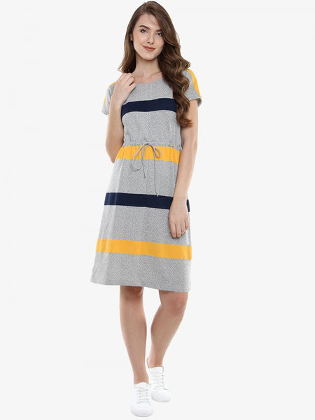 Forever Glamorous Striped Shift Dress