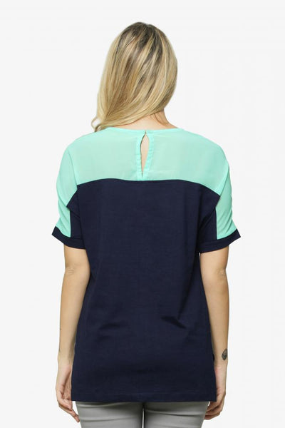 More The Merrier Color Block Top