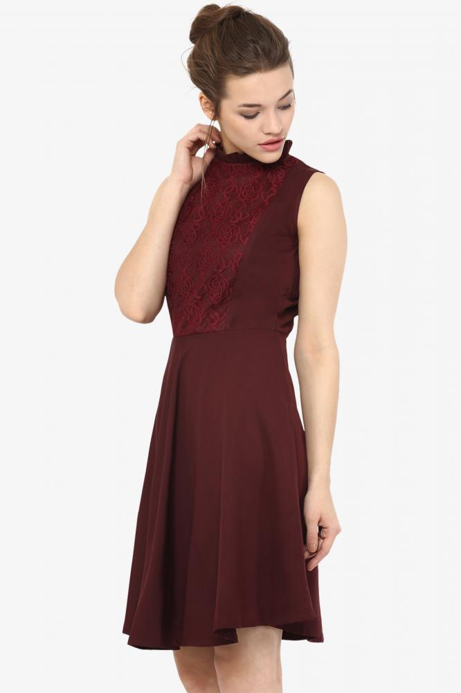32a34dc76834 Hollywood And Wine Lace Skater Dress – Miss Chase