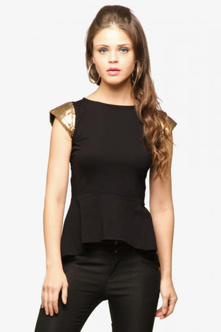 Party in Peplum -Peplum Top