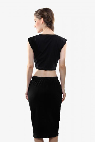 Two's Company Crop Top And Bodycon Skirt Set