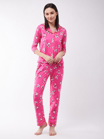 Early Morning Floral Printed Pajama Set