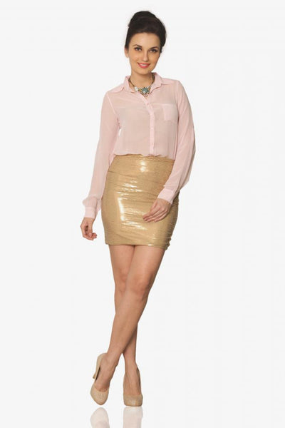 Dream Sequence Sequin Skirt