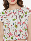 Love Or Just A Game Ruffle Printed Top