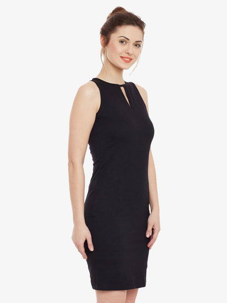Like A Boss High Neck Midi Dress