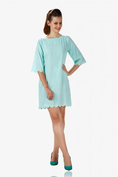 Sea princess scallop dress