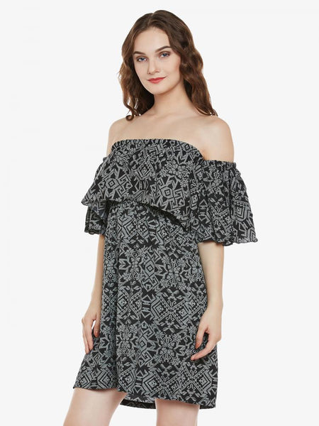 Be My Baby Doll Off Shoulder Dress