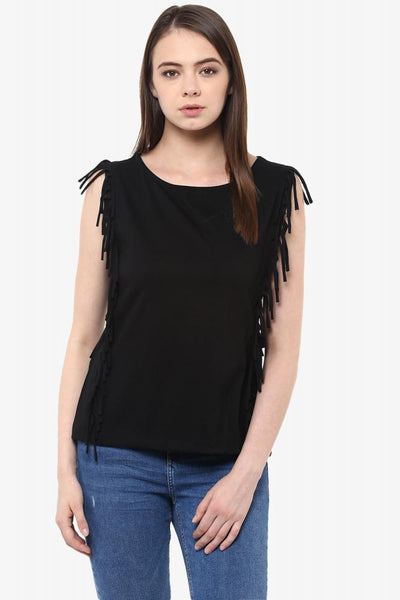 Cool Breeze Fringe Top