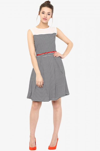 Day Delight Striped Skater Dress