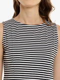 Skyline Streak Striped Skater Dress