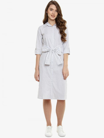 Be Ready Striped Knotted Dress