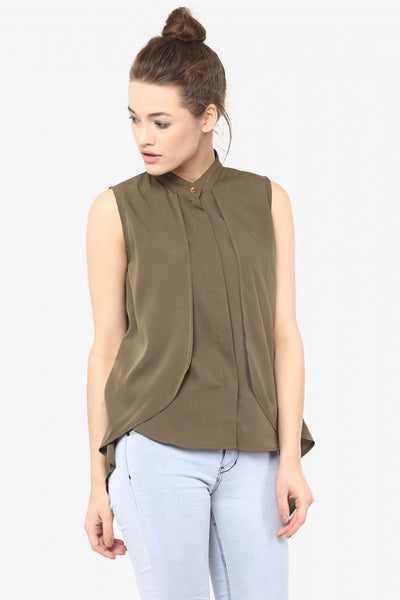 Free Spirit Collared High-Low Shirt