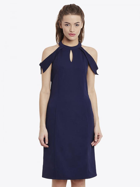 At The Top Cold Shoulder Dress