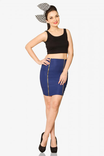 Here's a Zip - bodycon Skirt