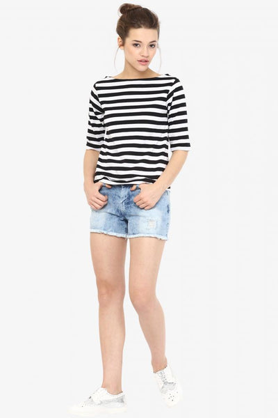Stripe And Type Striped Top