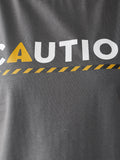 Caution For Town Boat Neck T-Shirt