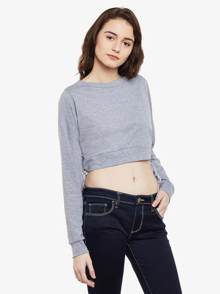 Sailing Uptown Oversized Crop Top