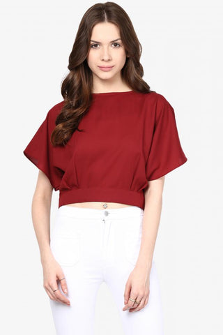Sinfully Yours Cropped Slit Back Top