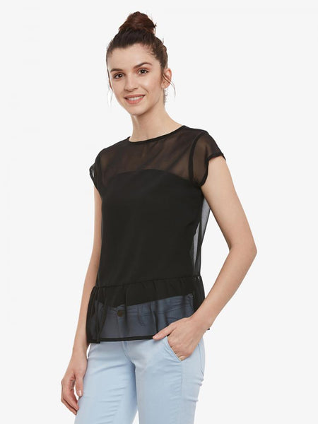 Champagne Twist Peplum Top