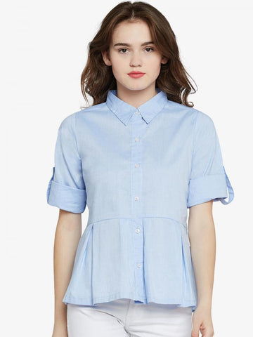 Flying On Neverland Pleated shirt