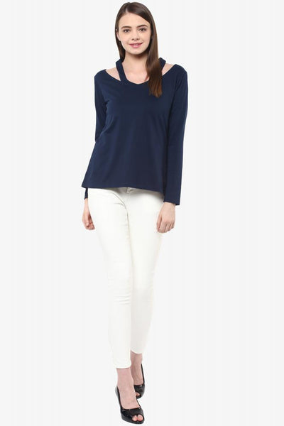 Showcase Cut Out Full-Sleeve Top