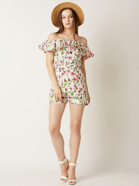 Fresh Vibes Floral Playsuit