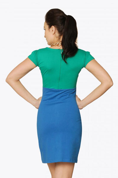 Power of Two Colorblock Dress