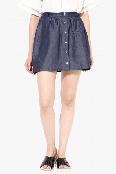 Button Up Chambray Skirt